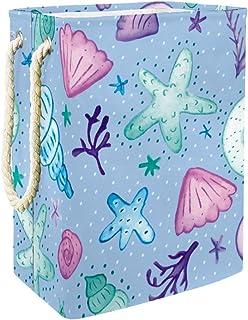 Yuzheng Caricature de Corail étoile de mer Panier à Linge Pliable, Panier à Linge avec Panier d'organisateur de ménage de ...