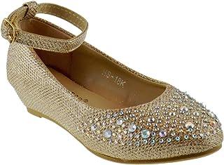 MONsin Fashion Girls Kids Flower Casual Slip Soft Sole Flat Shoes On Ballerina Toddler//Little Girl
