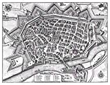MAP Antique MERIAN 1643 ULM City PLAN (2) Old Large Replica