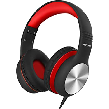 Mpow CH6 Pro Kids Headphones Over-Ear with Microphone and Volume Limited 94dB, Wired Headphone for Teens Girls Boys, HD Stereo Headset w/Sharing Function, Foldable Headset for School/PC/Cellphone