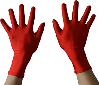 red spandex gloves