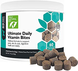 Only Natural Pet Ultimate Daily Vitamin Nutritional Supplement for Dogs - Dog Multivitamin Supplements for Joints, Skin & Coat, Immune Support, Digestive System, Bones Teeth & More