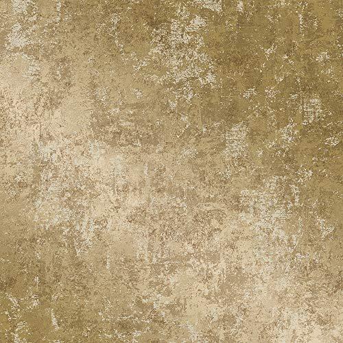 Tempaper Gold Distressed Gold Leaf | Designer Removable Peel and Stick Wallpaper