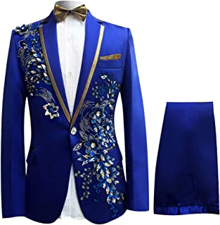 Mens Suits Notched Lapel One-Button Wedding Party Blazer Dinner Jacket and Pants
