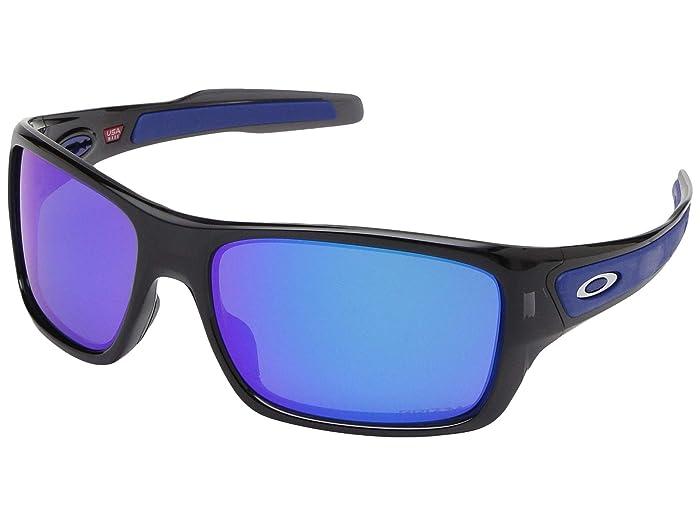 Oakley Turbine (Black Ink w/ PRIZM Sapphire) Sport Sunglasses