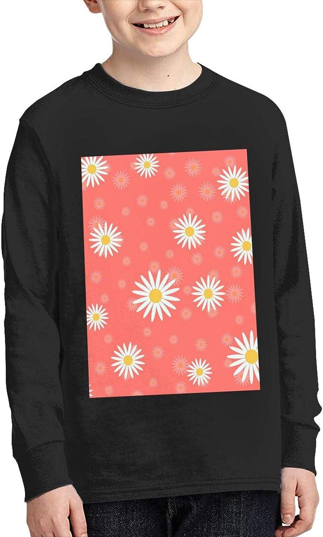 TZT Summer White Chrysanthemum Sweater Fashion and Comfortable Children's Sweater