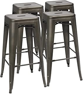 Amazoncom Backless Barstools Home Bar Furniture Home Kitchen