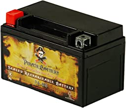 Pirate Battery Rechargeable YTX7A-BS High Performance Power Sports Battery-AGM-Replacement for CTX7A-BA, GTX7A, GTX7A-BS