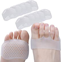 MAYCREATE® Gel Metatarsal Pads,Breathable Soft Ball of Foot Cushion,Metatarsal Fracture Pain Relief,Prevent Callus and Blisters 5pairs (White)