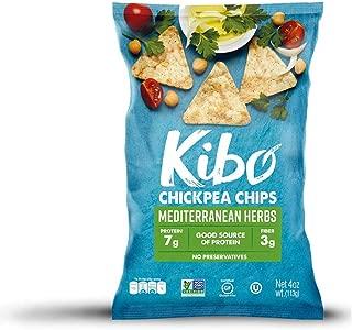 Kibo Chickpea Chips - Plant-based, Gluten Free, Non-GMO, Kosher. Mediterranean Herbs, 4 oz. 6 pack.