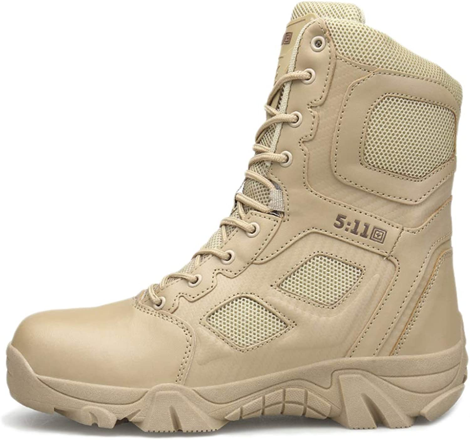 Yra Desert Combat Boots Men High-Top Military Boots Non-Slip Outdoor Training shoes For Trekking Hiking Sneakers Lightweight Off-Road Tactics Footwear