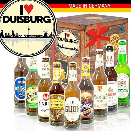 I love Duisburg - Geburtstagsgeschenk Duisburg - Deutsches Bier Set