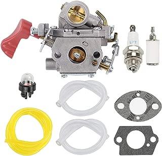 HONEYRAIN 545189502 Carburetor for Poulan PP338PT PP333 PP133 PP033 Pro Gas Trimmer Edger 33cc Carb Zama C1M-W44 Replace 545189502 with Fuel Filter Spark Plug