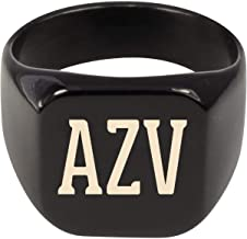 Molandra Products AZV - Adult Initials Stainless Steel Ring