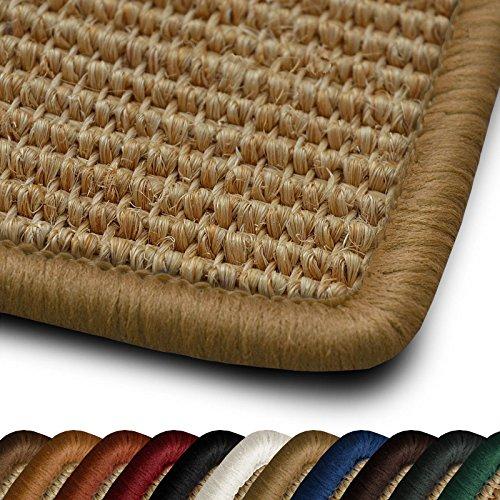 casa pura Sisal Läufer Teppich myStyle | Kettelung in Wunschfarbe | Naturfaser | viele Größen zur Auswahl (Kettelung Beige, 66x100 cm)