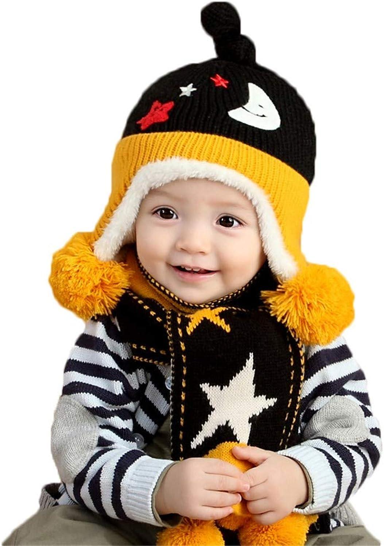 Zyyaxky Wollmütze Hut Kinder Strickmütze Baby Herbst Und Winter Hut Schal 2 Stze Von Jungen Und Mdchen Winter Hut