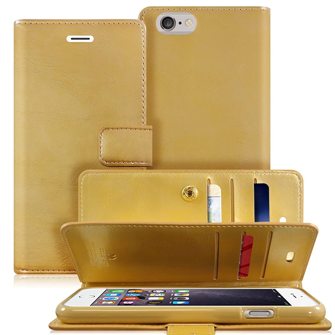 iPhone 6 PLUS / 6S PLUS Case, [Extra Card & Cash Slots] GOOSPERY Mansoor Diary [Double Sided Wallet Case] Soft PU Leather [Drop Protection]Cover for iPhone 6S PLUS / 6 PLUS (5.5