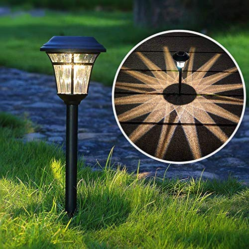 Maggift 8 Lumens Solar Garden Lights Solar Landscape Lights Solar Pathway Lights Outdoor for Lawn, Patio, Yard, Garden, Walkway, 6 Pack