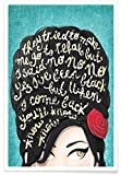 JUNIQE® Amy Winehouse Songtexte Poster 30x45cm - Design