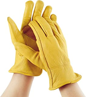 wangyuep ガーデニング手袋 ガーデングローブ 革手袋 柔らかい フィットプロフェッショナル 安全保護 穿刺防止 庭作業手袋 女性男性用 多目的 滑り止め 耐摩耗 園芸手袋草刈りピッキング