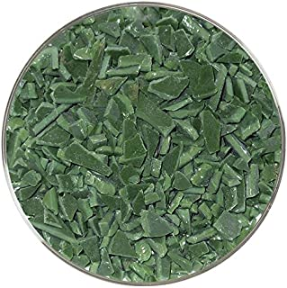 Dark Green Opalescent Coarse Frit - 4oz - 96COE - Made from System 96 Glass
