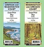 Washington & Oregon Coast Large Print, Oregon & Washington State Map