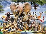 Puzzle de 1000 Piezas para Adultos, Mundo Animal, Ilustraciones de Juegos de Rompecabezas para Adultos, Adolescentes, Rompecabezas de Piso de Impresión de Alta Definición (70 x 50 cm (Mundo Animal-2)