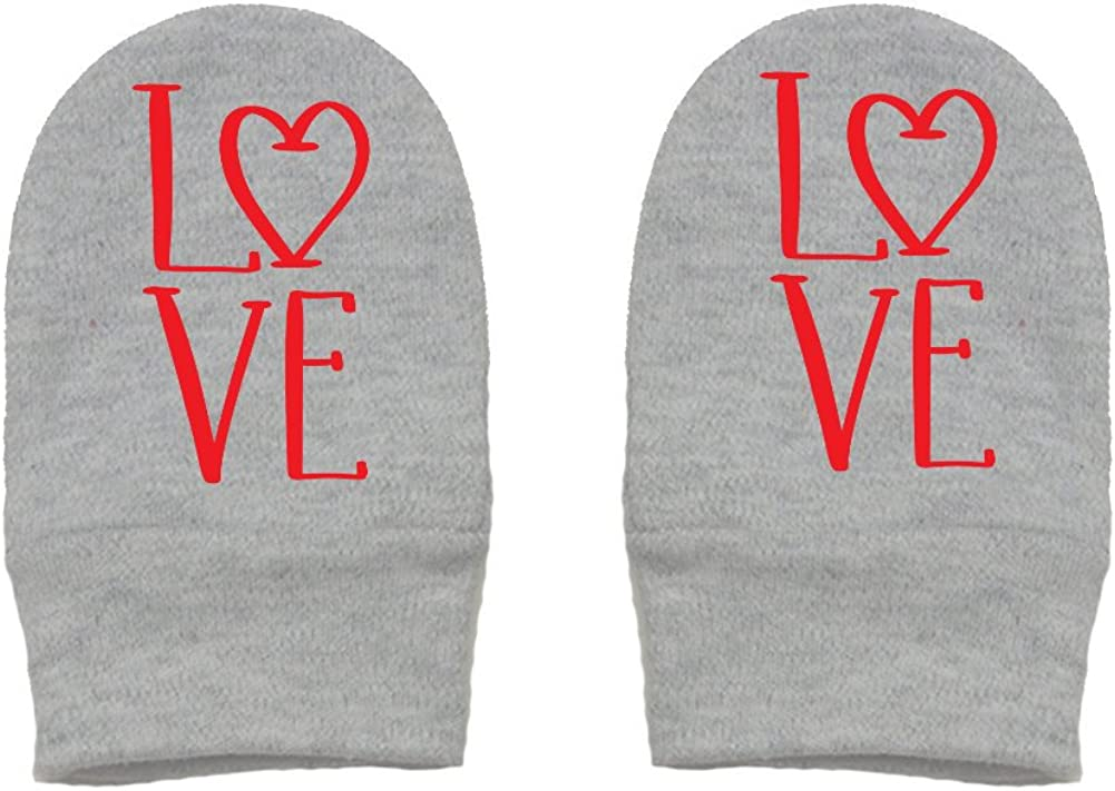 LOVE Valentines Day Thick Premium Thick /& Soft Baby Mittens Mashed Clothing Unisex-Baby