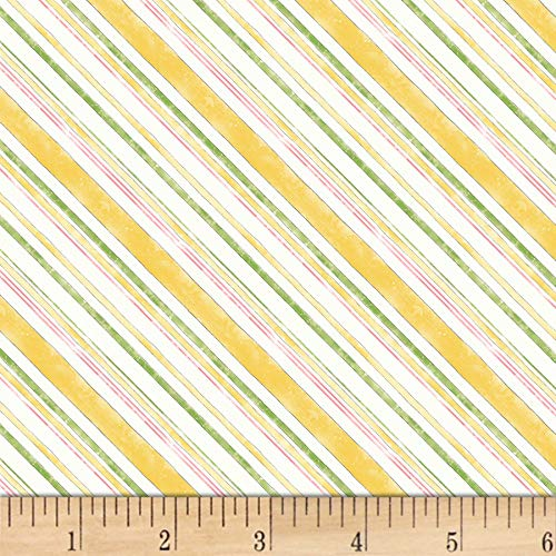 Wilmington Prints Wilmington Painting Paris Stripe Yellow Fabric -  MM Fab, 3027-16507-157