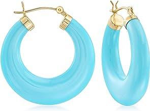 blue earrings turquoise earrings Mother/'s Day gift Desert Sky Acetate Hoop Earrings * acetate earrings hoop earrings gift under 40