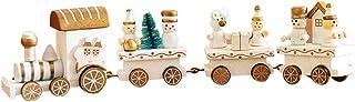 comprar comparacion Holacha Pequeño Tren de Navidad, Decoraciones de Navidad Hecho de Maderas para Niños Jardín de Infancia Festivo (Blanco)