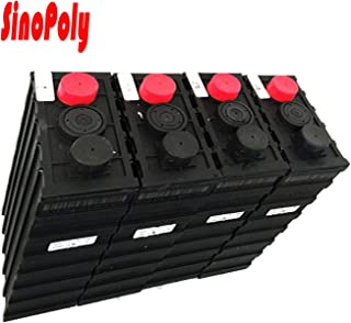 Sino Poly 12V 100Ah LiFePO4 Battery Cell, 2000+ Cycle Life 300A Constant Discharge Fast Charge Prismatic Batteries, Plastic Cover (Contain 4S 3.2V 100Ah Cell) EV RV Use