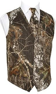 Mens 2 Piece 4 Button Vests Outerwear Camouflage Color (Vest+Tie)