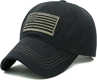 USA American Flag Baseball Cap Embroidered Polo Style Military Army Hat