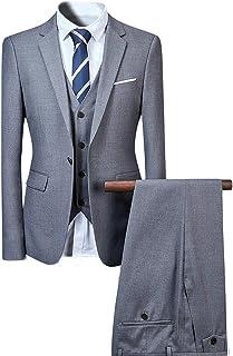 YOUTHUP Men's Suit, Wedding Suits, 3 Pieces, Business Suit Jacket Trousers Vest