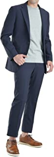 上下ウォッシャブルスーツ メンズ 洗えるスーツ ビジネス カジュアルスーツ スリム おしゃれ ウォッシャブルスーツ 春夏 スリーシーズン 2つボタン コンフォートスーツ セットアップ アクティブスーツ ウエストゴム SC99