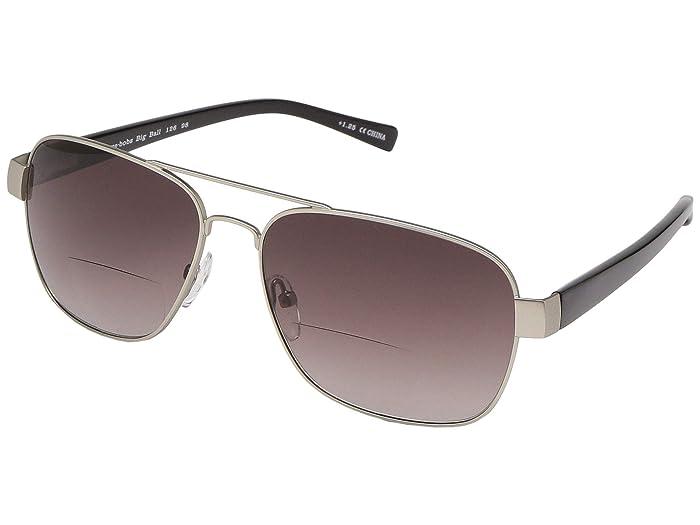 Big Ball Reader Sunglasses (Matte Silver/Shiny Black) Reading Glasses Sunglasses