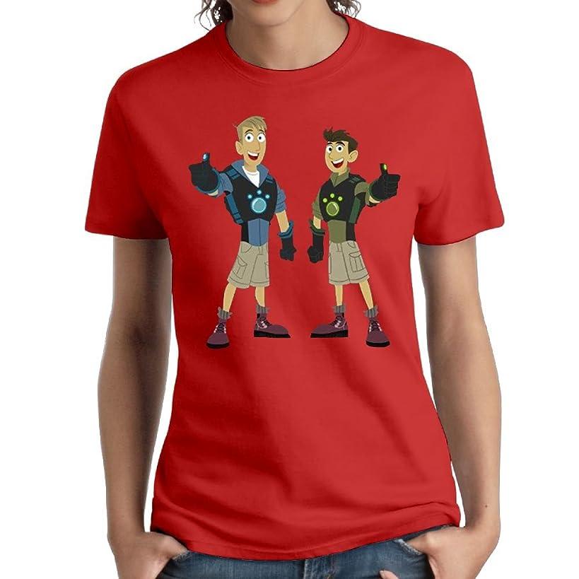 Erin Forman Womens Popular Celebrity Short-Sleeve T-Shirt Wild Kratts Logo Red