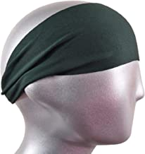 "BONDI BAND SOLID MOISTURE WICKING 4"" HEADBAND, BLACK - Workout Sweatband; Great for Running, Walking, Crossfit, Skiing, Wo..."