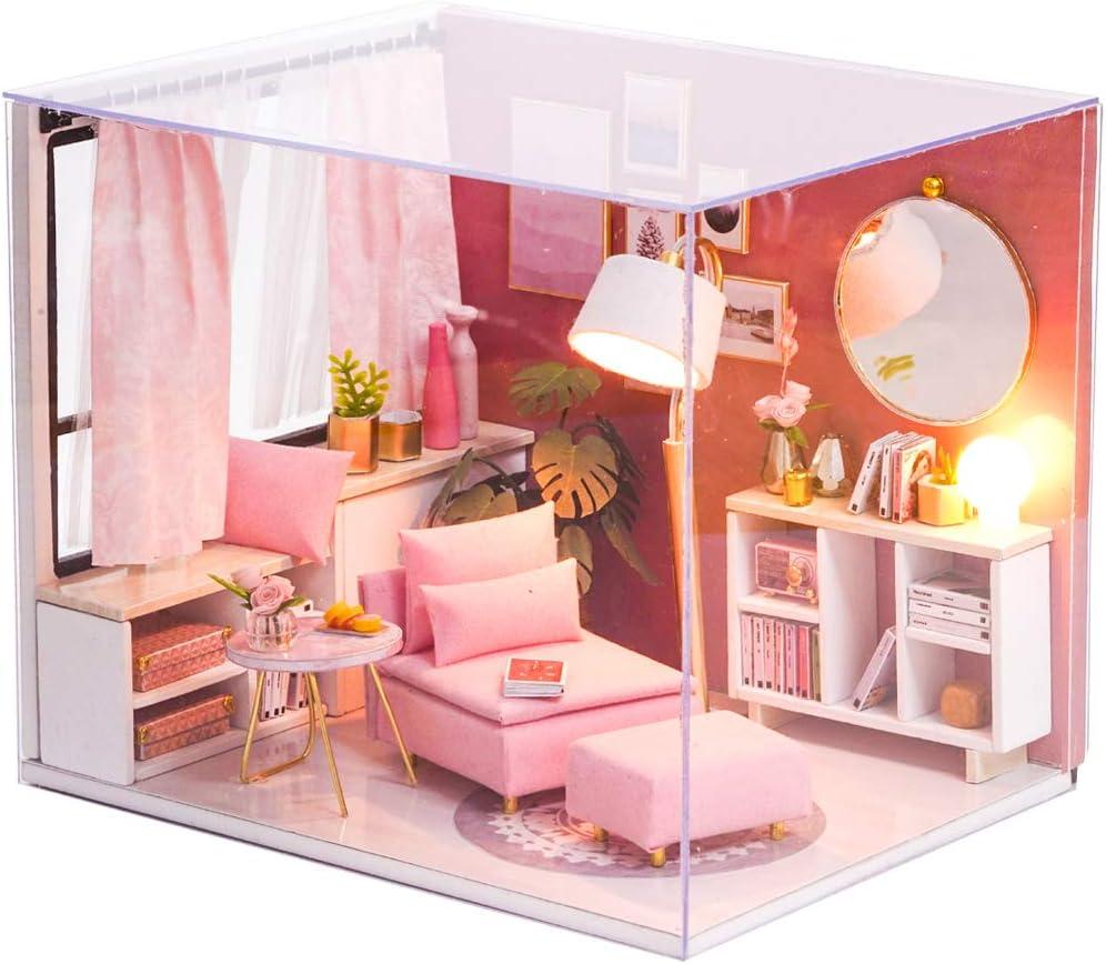 Fsolis DIY Dollhouse Miniature Kit Max 42% OFF Wooden shop 3D Furniture with Min