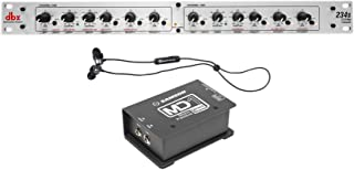 DBX 234S Stereo 2/3 Way/Mono 4-Way Crossover, 2 Channel+IPX5 Earbuds+Samson DI