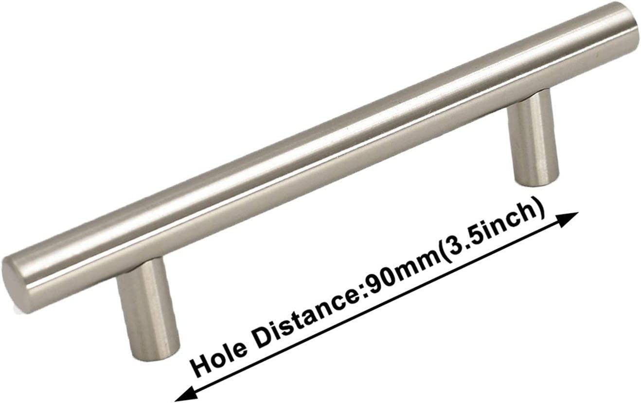 3.5 inch Super intense Challenge the lowest price of Japan SALE Cabinet Pulls Brushed Nickel Pack 30 Homdiy - HD201BSS