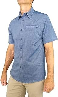 ZeroXposur Mens Regal Button Down Short Sleeve Office Knit Top Shirt