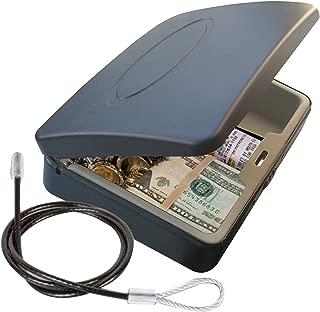 Masmartox Portable Key Storage Lock Box,Travel Lockbox Safe with Combination Lock,Black