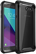 i-Blason Ares Series Designed for Galaxy Halo/J7 Sky Pro/J7 Perx/J7 2017 (SM-J727), Full-body Rugged Clear Bumper Case with Built-in Screen Protector, Not Fit J7 2018 (SM-J737)(Black)