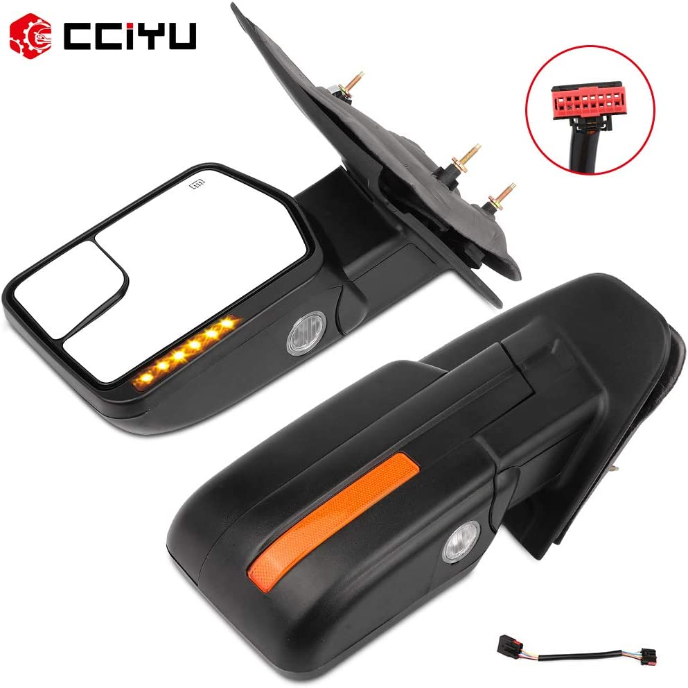 cciyu Tow Mirrors Special Campaign Car LH Left Mirr Black Max 61% OFF Towing Right RH