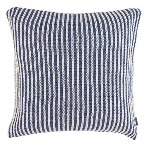 GANT Home Kissenbezug Kissen Rill Knit Cushion gestrickt 50x50 cm, Farbe:Blau(464)