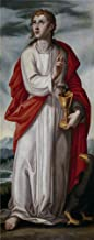 The High Quality Polyster Canvas Of Oil Painting 'Pacheco Francisco San Juan Evangelista Ca. 1608 ' ,size: 8 X 20 Inch / 20 X 51 Cm ,this Cheap But High Quality Art Decorative Art Decorative Canvas Prints Is Fit For Wall Art Decoration And Home Gallery Art And Gifts