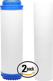2-Pack Denali Pure Universal 10 inch Sediment, GAC Filter - Compatible with Aqua Pure AP101T, Aqua-Pure AP11T, GE GX1S01R, Aqua Pure SST1HA, Aqua Pure AP102T, Aqua-Pure AP1610SS, Aqua Pure SST1