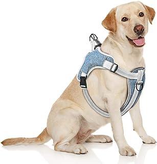 TAMOWA Inget drag hundsele liten, frontklämma husdjur väst sele, reflekterande enkel kontroll promenader utomhus medium st...